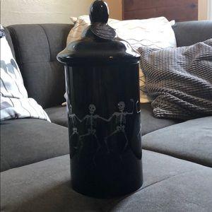 Halloween skeleton apothecary jar